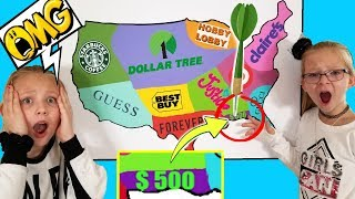 Throwing a DART at a MAP & BUYING Whatever It Lands On - Challenge!!!