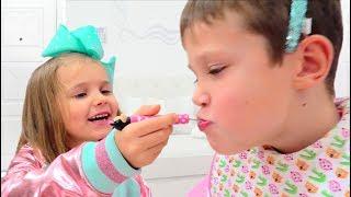Minnie Катя играет с Максом / Katy pretend play a Minnie