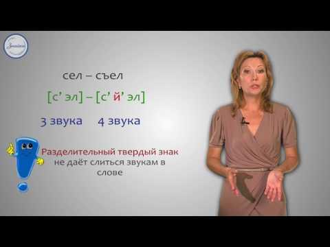 Написание разделительных Ь и Ъ