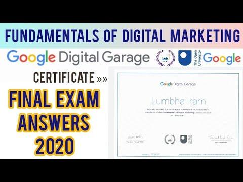 Google Digital Garage Final Exam Answers 2020 | Fundamentals of ...