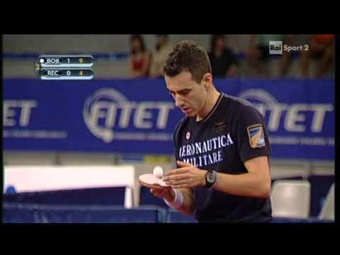 Tennis Tavolo - Finale Campionati Italiani Assoluti Maschili 2012 - Bobocica - Rech Daldosso