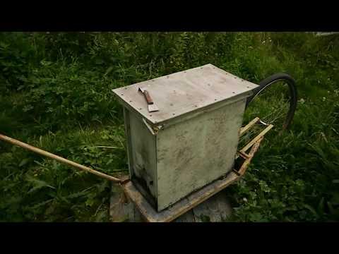 Пасечная тележка для пчел. Конструкция тележки для пасеки, размеры.