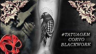 #TATUAGEM CORVO BLACKWORK