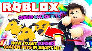 New Cursed Golden Pets In Adopt Me New Adopt Me Golden Egg