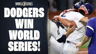 Dodgers win 2020 World Series! (Final out of World Series Game 6!)