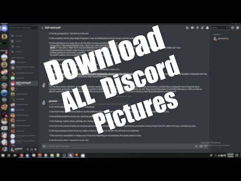 How to Auto-Download all of your Discord pictures at Once!