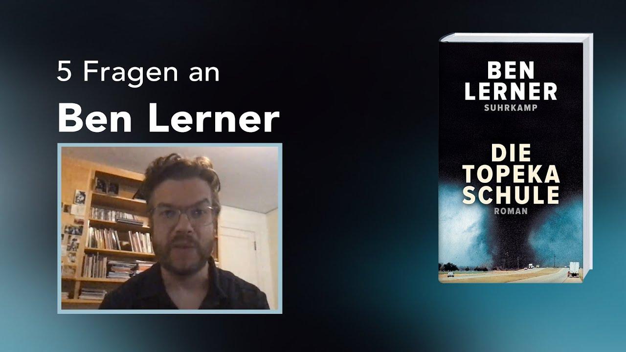 5 Fragen an Ben Lerner zu <I>Die Topeka Schule</I>