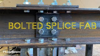 Bolted Steel beam/column Splice (straight joint connection) 203uc46  Full structural fabrication.