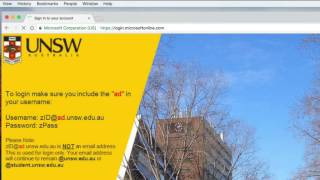 Access UNSW Student Email at Microsoft Online