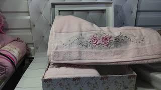 Pupilla Трикотажные подарочные полотенца с 3D розами. Турция. от компании Euro texti VIP - видео