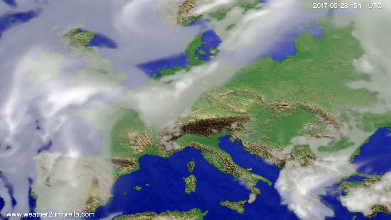 Cloud forecast Europe 2017-05-26
