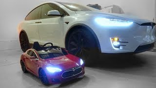 Bought my 7 yr old Daughter a TESLA!