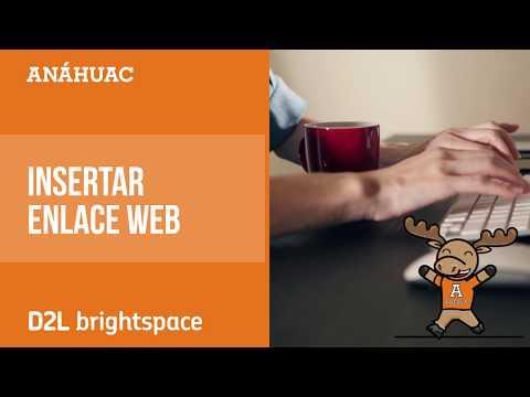 Tutoriales Brightspace: 15. Incertar enlace Web