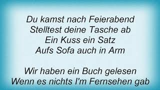 Annett Louisan - Herrenabend Lyrics