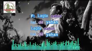 AAJA SANAM MADHUR hindi karaoke for Male   - YouTube