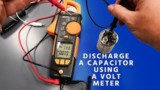 Can You Discharge a Capacitor Using a Volt Meter