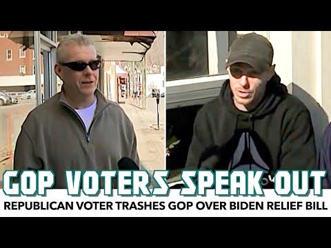 Republican Voter Trashes GOP Over Biden Relief Bill