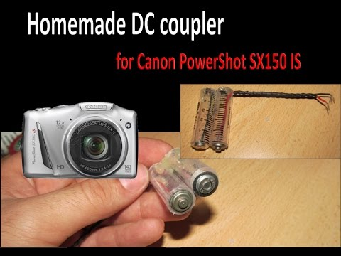 How To Make DC Coupler (battery Shell) For Canon PowerShot SX150 Mp3