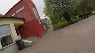 FPV Drone Freestyle (Latvia) ... Small town school
