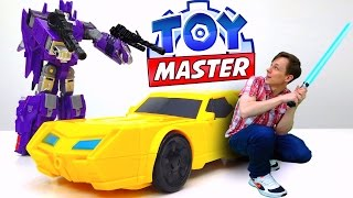 Трансформеры: видео про игрушки. Toy Master против десептиконов!