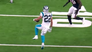 Christian McCaffrey Hamstring Injury vs. Texans (OUT FOR GAME)