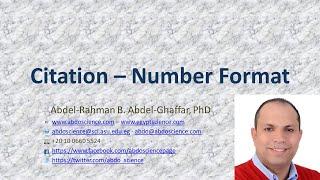 Scientific Writing - Citation - Number Format