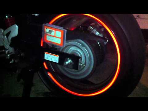 How To Connect LED Lights Motorcycle Tires