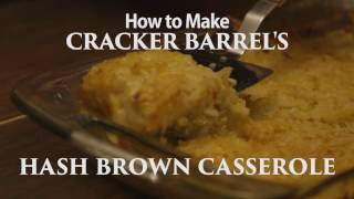 How to Make Cracker Barrel's Hash Brown Casserole