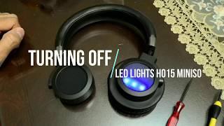 Audifonos Miniso H015 - ¿Cómo ocultar las luces LED?