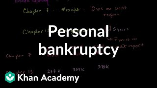 Personal bankruptcy - Chapters 7 and 13