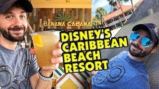 Disney's Caribbean Beach Resort Newly Renovated Full Tour + Banana Cabana Full Menu Review!