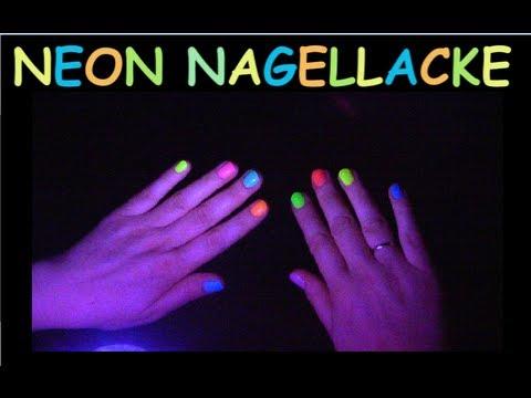 Fluoreszierende Neon Nagellacke im Schwarzlicht ❀ (auf essence Peel Off Base Coat)