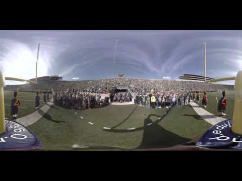 360° of the Band of the Fighting Irish