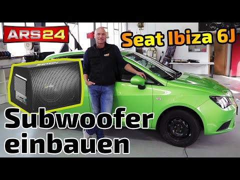 Aktiv-Subwoofer im Seat Ibiza 6J installieren |  Eton Move 12-400A | DIY | Einbaututorial | ARS24
