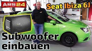 Aktiv Subwoofer im Seat Ibiza 6J einbauen |  Eton Move 12-400A | ARS24