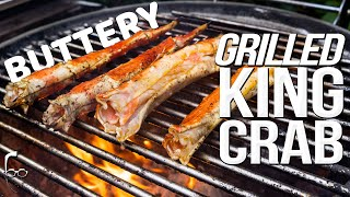 BUTTERY GRILLED KING CRAB | SAM THE COOKING GUY 4K