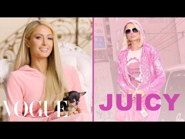 Paris Hilton Talks About the Juicy Couture Tracksuit   Vogue