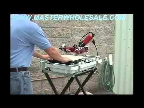 MK 770 Tile Saw Demonstration Video