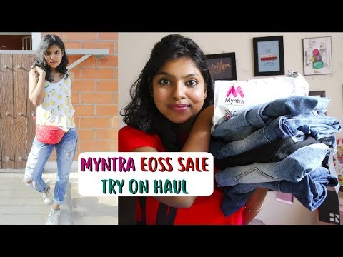 Myntra EOSS Try on Sale Haul 2018 | Here & Now Jeans Review – Affordable Jeans for Girls | AdityIyer