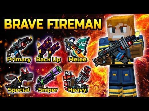 Brave Fireman Set - Pixel Gun 3D