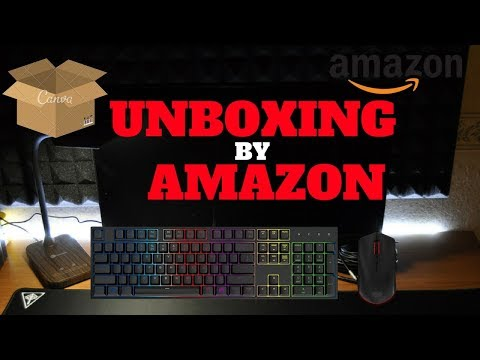 Unboxing da Amazon - Accessori PC per Scrivania (Monitor, Mouse, Tastiera, Lampada...)