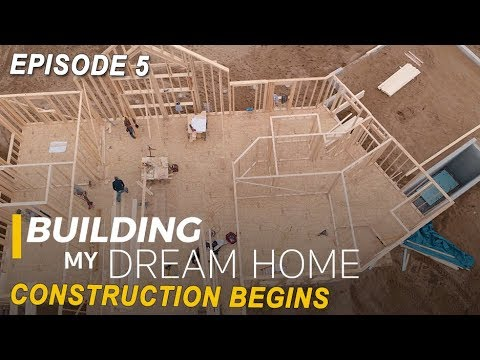 Ep 5 Building My Dream Home - Construction Begins - Half Log