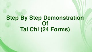 Step by Step 3D Demonstration of Yang Style Tai Chi (24 Forms)