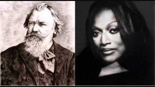 Jessye Norman sings Brahms - Geistliches Wiegenlied, from Two Songs, Op. 91 (2/2)