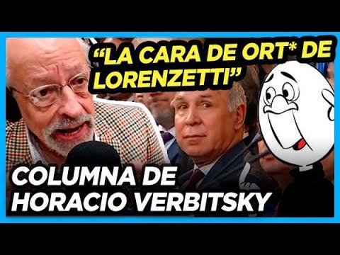 """VERBITSKY explica la """"cara de ort*"""" de """"Huevo Duro"""" LORENZETTI durante el discurso de Alberto"""