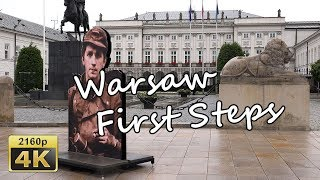 Warsaw,  First Steps - Poland 4K Travel Channel