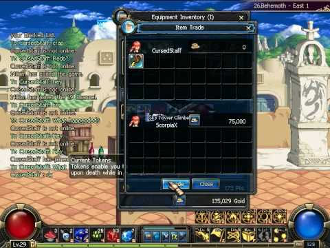 Transaction Sacred Staff DFO 150k
