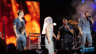 "98 Degrees pulls fan on stage + performs ""I Do"" live Pier Six Baltimore"