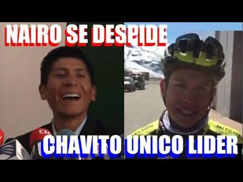 NAIRO Quintana SE DESPIDE de MOVISTAR Esteban CHAVES UNICO LIDER de MITCHELTON en ESPAÑA