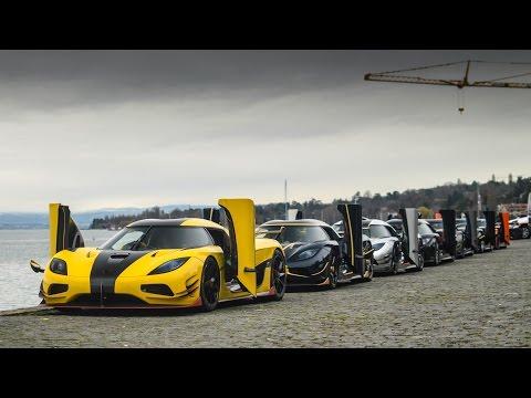 Nín thở quẫy cùng 7 chiếc siêu xe Koenigsegg